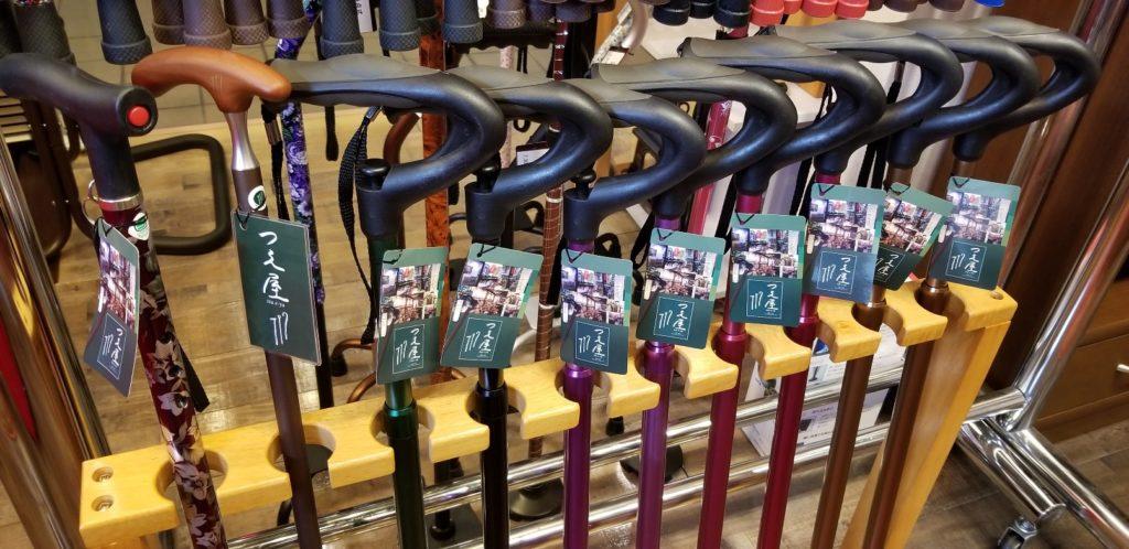 京都つえ屋 階段式杖